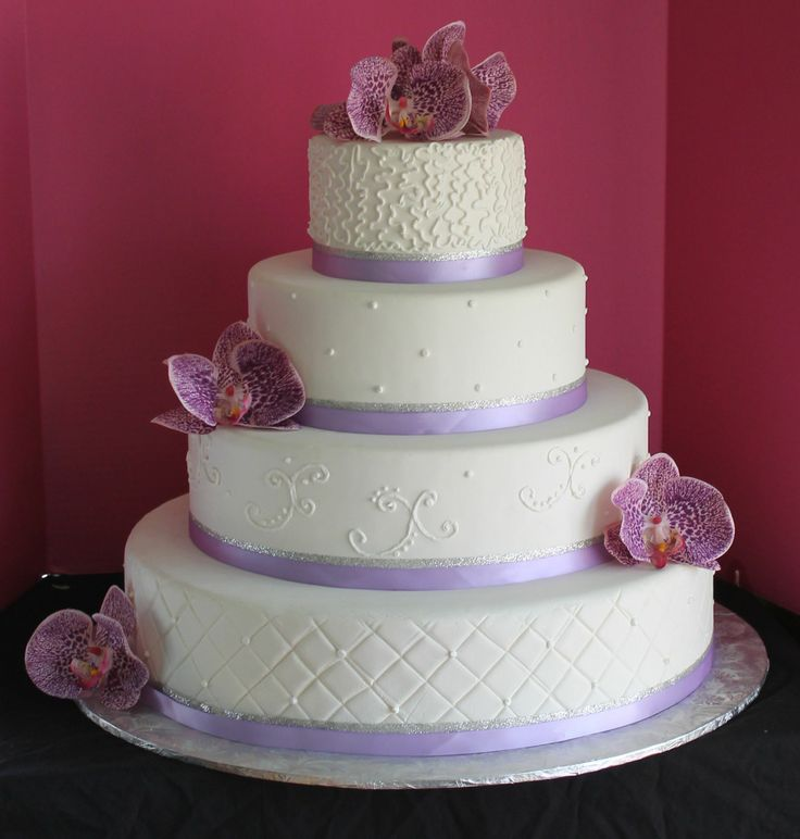 round wedding cakes with purple flowers wedding cake wedding cakes 19338