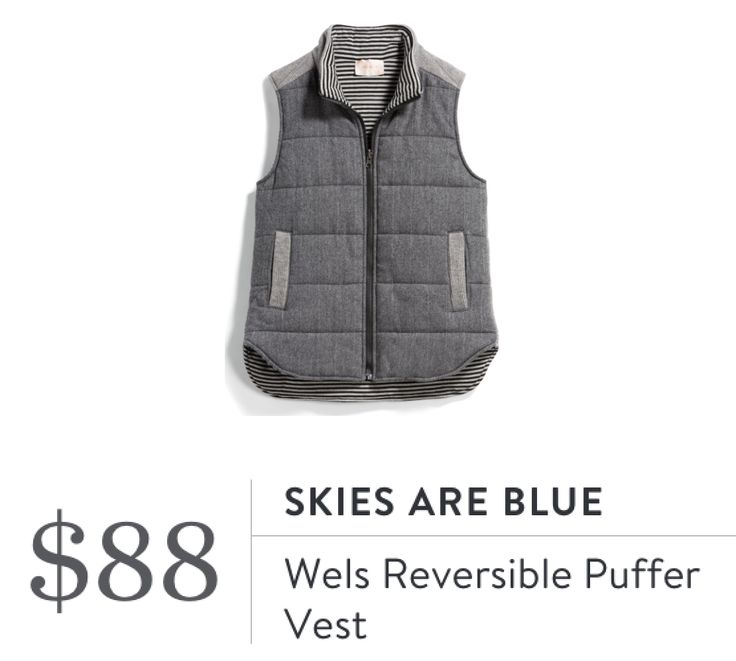 Skies Are Blue Wels Reversible Puffer Vest