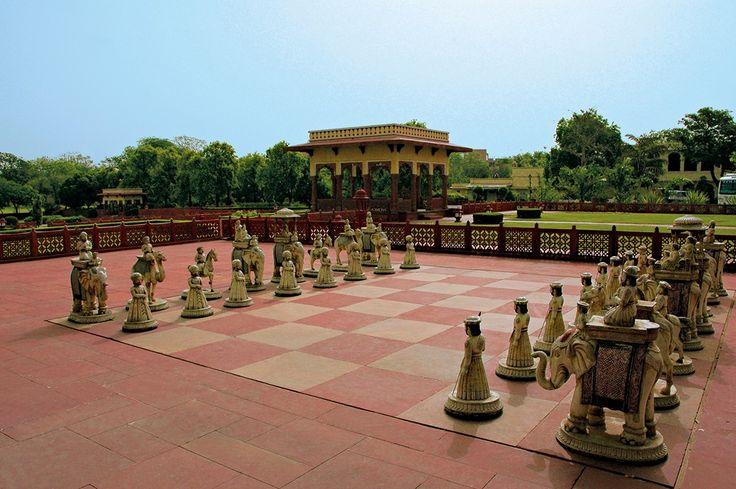 Outdoor Chess at Taj Jai Mahal Palace, Jaipur, India