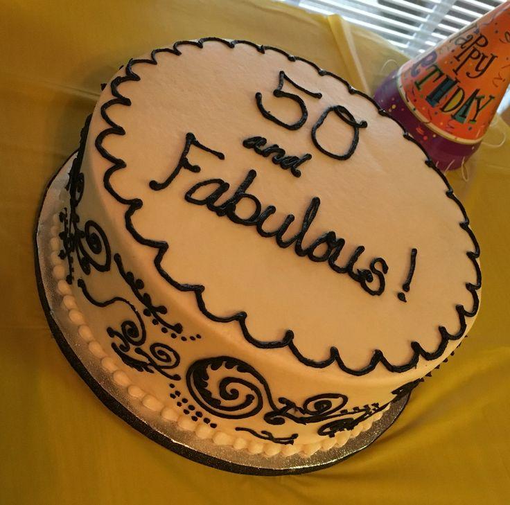 Fabulous and 50 cake