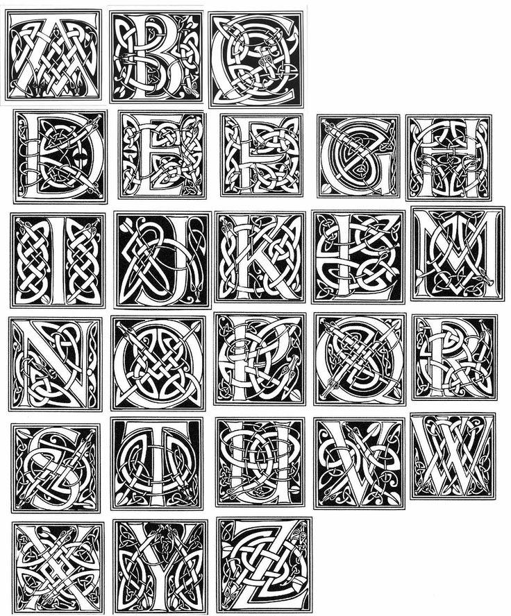 Celtic Letters                                                                                                                                                                                 More
