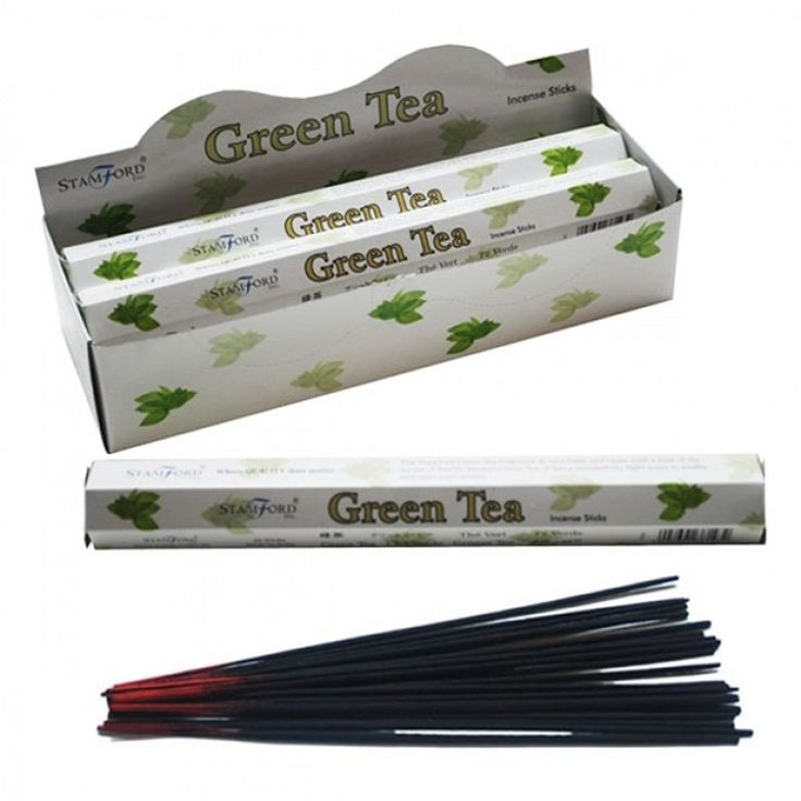 Stamford+Hex+Incense+Sticks+-+Green+Tea+(6+Pack)