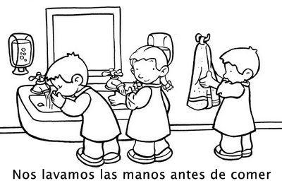 Nos lavamos las manos antes de comer