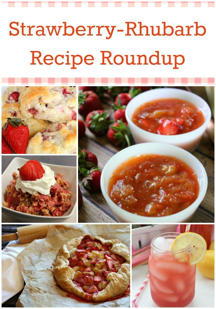 Strawberry-Rhubarb Recipe Roundup - delicious strawberry-rhubarb recipes including scones, crisps, lemonade, cake and more