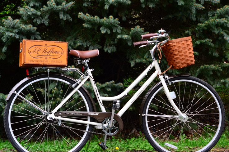 Vintage Italian Wine Crate Stained And Mounted To Bike Rack