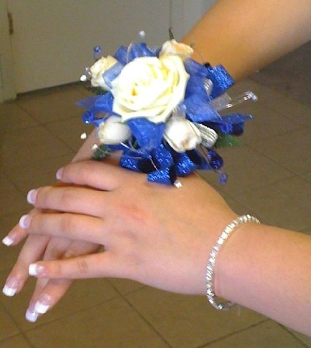 53 best prom 2014 images on pinterest bridesmaid dress classy royal blue wrist corsage mightylinksfo