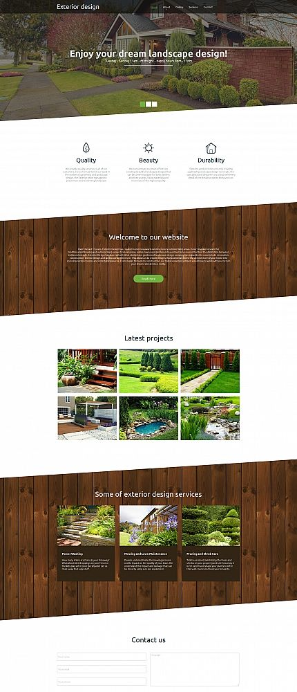 Exterior Design website inspirations at your coffee break? Browse for more Moto CMS HTML #templates! // Regular price: $139 // Sources available:<b>Sources Not Included</b> #Exterior Design #Moto CMS HTML
