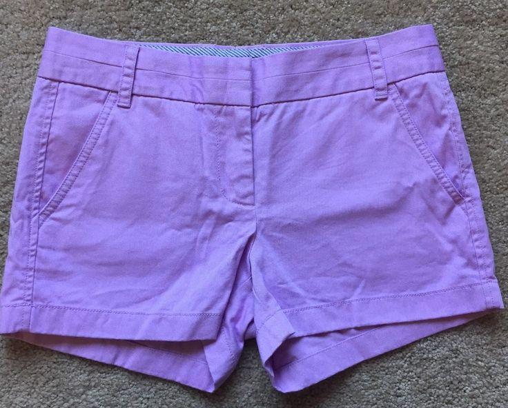 "J Crew Women's Purple Khaki Chino 3"" Shorts EUC Size 2 31"" Waist | eBay"