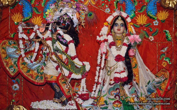 To view Radha Parthasarathi Wallpaper of ISKCON Dellhi in difference sizes visit - http://harekrishnawallpapers.com/sri-sri-radha-parthasarathi-iskcon-delhi-wallpaper-001/