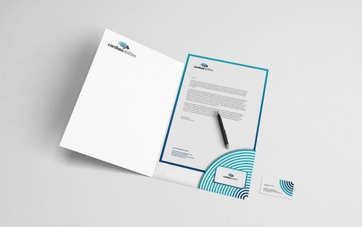 Projeto: papelaria - pasta / papel carta / cartão de visitas Cliente: Cardoso Leilões Praça: Campinas - SP #agência #publicidade #branding #i9suaideia