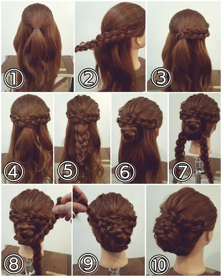 поэтапные прически на длинные волосы фото коем случае