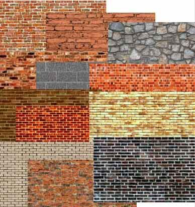 Free paper Textures for miniatures | Print all of the brick paper you need for your model train, doll house ...