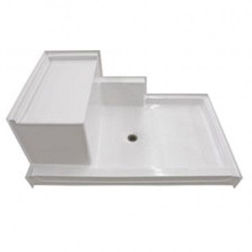 Freedom Easy Access Shower Pan Left Molded Seat 60 X 37 In