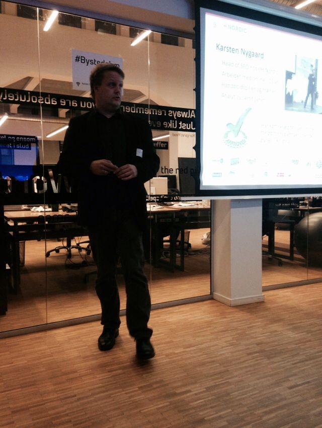 Karsten Nygaard, SEO og expert i konverteringsrater og søgemaskineoptimering. IHH Nordic. Set hos Bysted nov 2014.