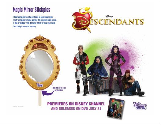 Disney Descendants Premiere Party Magic Mirror Stickpicks