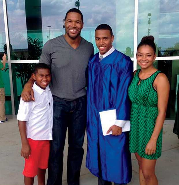 "Michael Strahan on How His Father Shaped His Life—And the Lessons His Kids Are Teaching Him...In 2013 with Michael Jr., Tanita, and their half-brother Dorian, 13, whom Strahan says is ""like my son, too."""