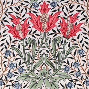 William Morris Tulip 2 Arts & Crafts Red