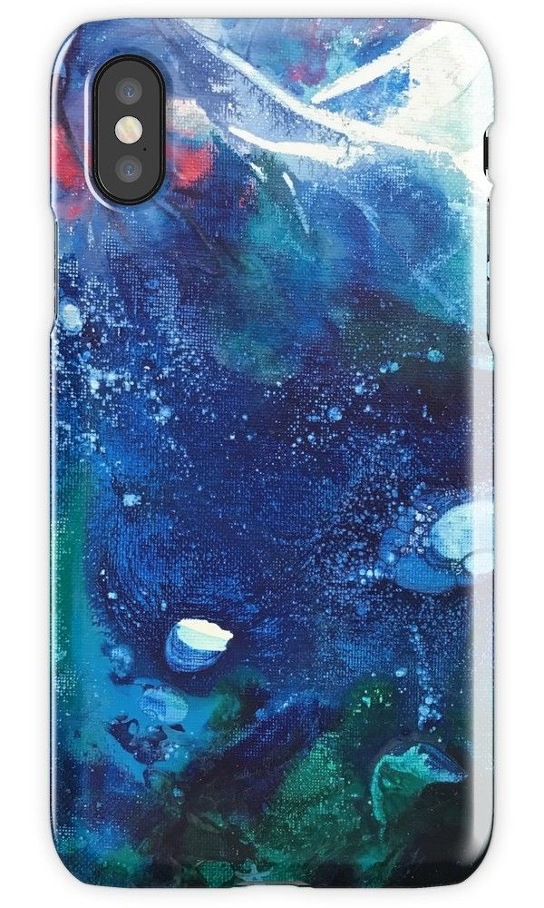 Bright Ocean Life, Tiny World Collection by ANoelleJay Stocking stuffers and holiday gifting for your iPhone and Samsung cell phones! In the Environmental Little World collection for The Other Art Fair Brooklyn NY Nov 9 – 12th, 2017 / 8in by 10 in acrylic painting