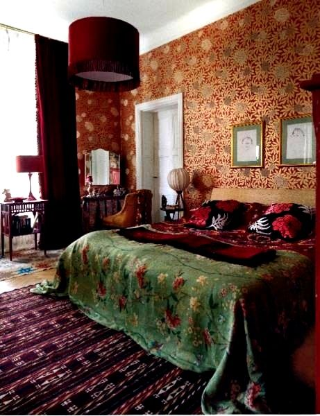 Purple, orange, green: bohemian bedroom | Interior design ...