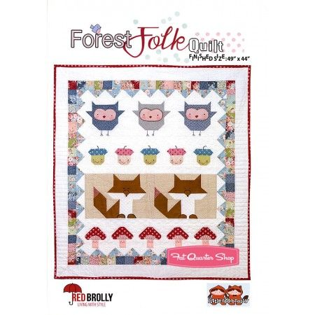 Forest Folk Quilt PatternRed Brolly
