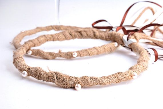 DIMITRA was the ancient goddess of agriculture in ancient Greece. These stefana are full of tradition and nature. Made by LenaWeddings on Etsy