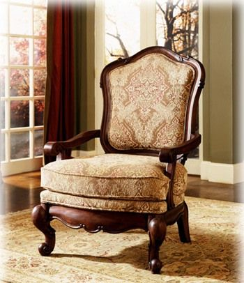 Pheasant Run-Antique upholstery collection showood accent chair | Antique Upholstered Chairs | Antique Furniture
