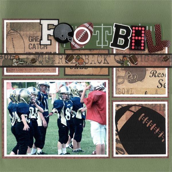 Football Scrapbook Layouts | Home / Scrapbooking / Idea Gallery / Layouts / Football