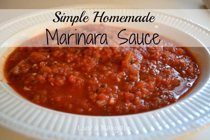 Simple Homemade Marinara Sauce - YUM and Easy!!!
