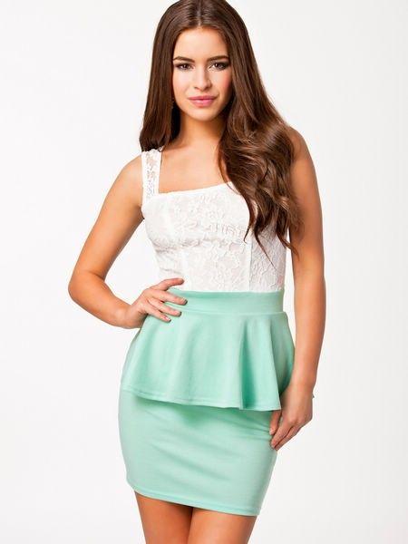 Lace peplum dress available from Lush www.lushwear.co.za #lushwear #peplum #dress #fashion #mint #lace #pretty #beautiful #fashion2015