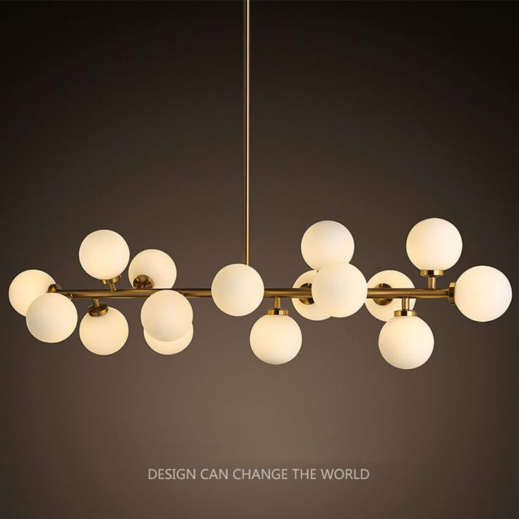 Modern LED Chandelier Light Fitting 16LED lights warm bubble chandelier restaurant Three different lengths of boom Free EMS