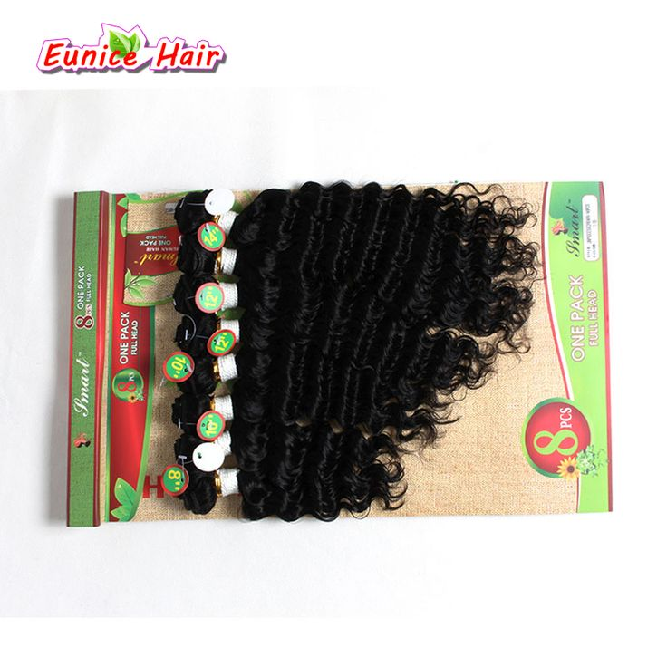 8pcs/pack 8-14inch Sew in Hair Extensions Colored Jerry curl synthetic hair weave bundles for Black Women