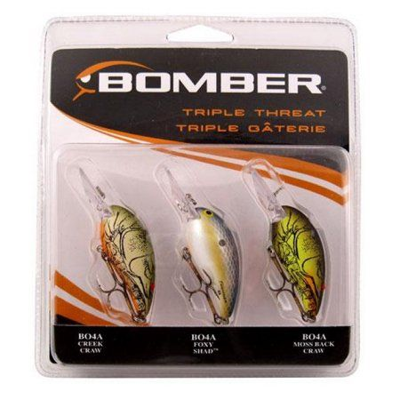 Bomber Lure Assortment, 3pk, Multicolor