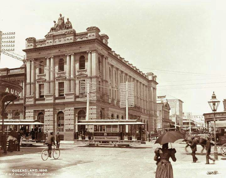 AMP Society Building at the corner of Queen and Edward Sts, Brisbane in 1898.
