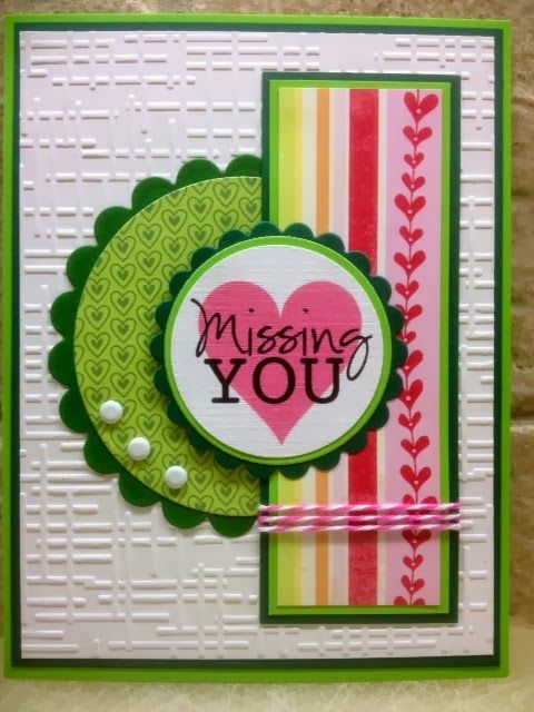 missing you card by Cheryl A