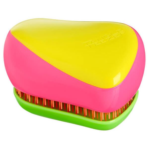 Tangle Teezer Kaleidoscope Compact Styler Hair Brush ($16) ❤ liked on Polyvore featuring beauty products, haircare, hair styling tools, brushes & combs, hair brush flat iron, tangle teezer, hair brush comb, flat iron hair brush and hair brush