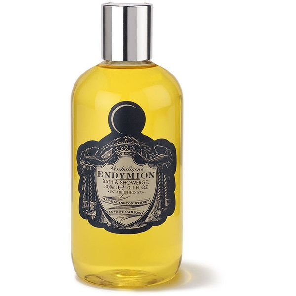 Penhaligon's Endymion Bath & Shower Gel (€32) ❤ liked on Polyvore featuring beauty products, bath & body products, body cleansers, accessories, filler, makeup and yellow