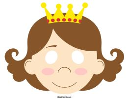 Princess Mask Templates Including A Coloring Page Version Of The Free Printable PDF At