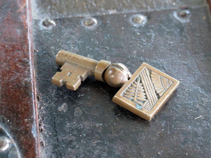 Eastlake Pocket Door Skeleton Key Nashua Owl Fern Design