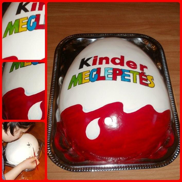 Kinder Surprise cake - Kinder tojás torta