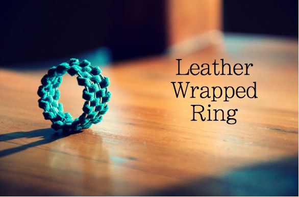 The Perfect Pear: DIY Leather Wrapped Rings