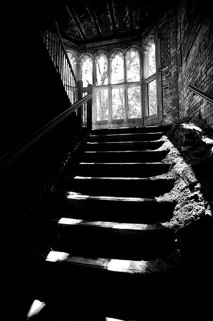 stairwellEerie Stairs, Basements Stairs, Dark, Abandoned Beautiful, Abandoned House, Black, Abandoned Places, Photography, Abandoned Church