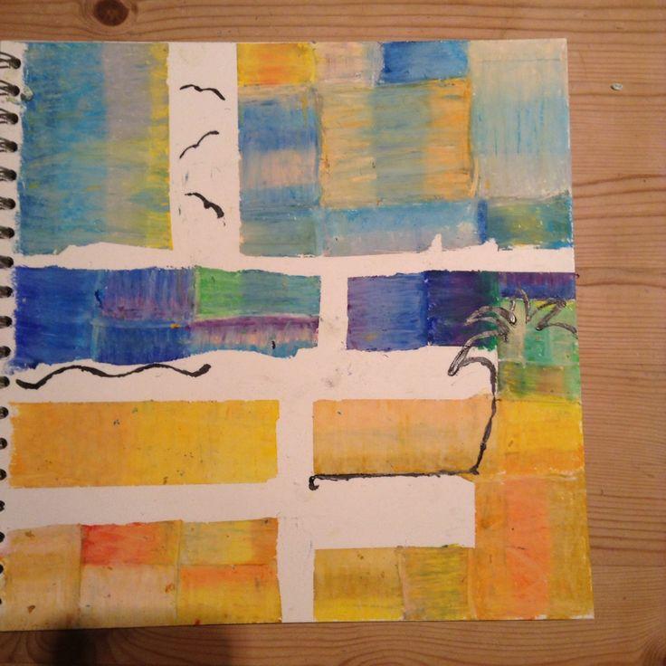 Paul Klee style beach