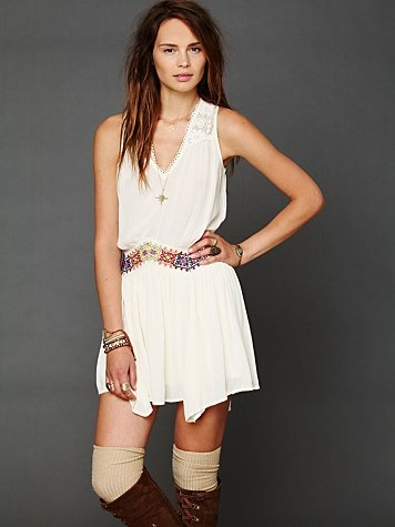 #FreePeople Ethnic Embroidered Dress $128 embroidered dress (http://www.swankboutiqueonline.com/ethnic-embroidered-waist-dress/)