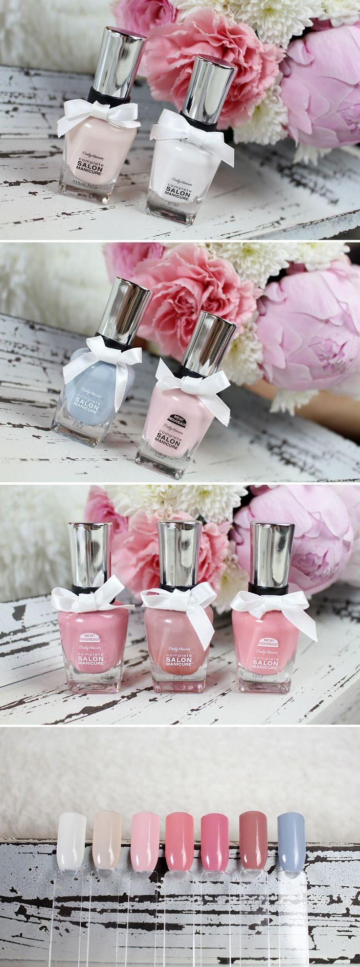 #SallyHansen Hochzeitskollektion  Farben: Let's Snow, Sweet Talker, Stellar Style Pink Pong, Style Icon, No Ifs Ands or Buds, In Full Blue-m