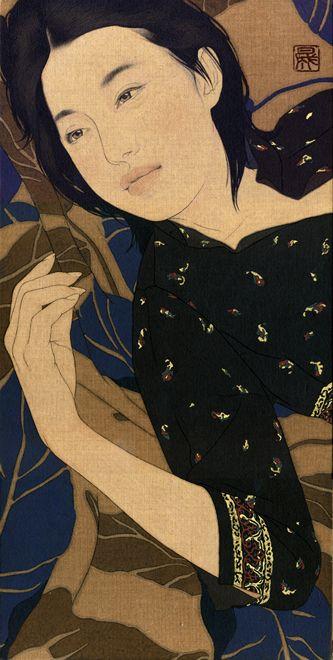 """053   """"Shima-seno""""   X25cm 50 centimetri 2 009   vernice d'oro, inchiostro, colla, vernice roccia Suikan-Azabu,   tela di lino / minerale / pigmenti   Gelatina Colla / fuliggine inchiostro / Pure Gold"""