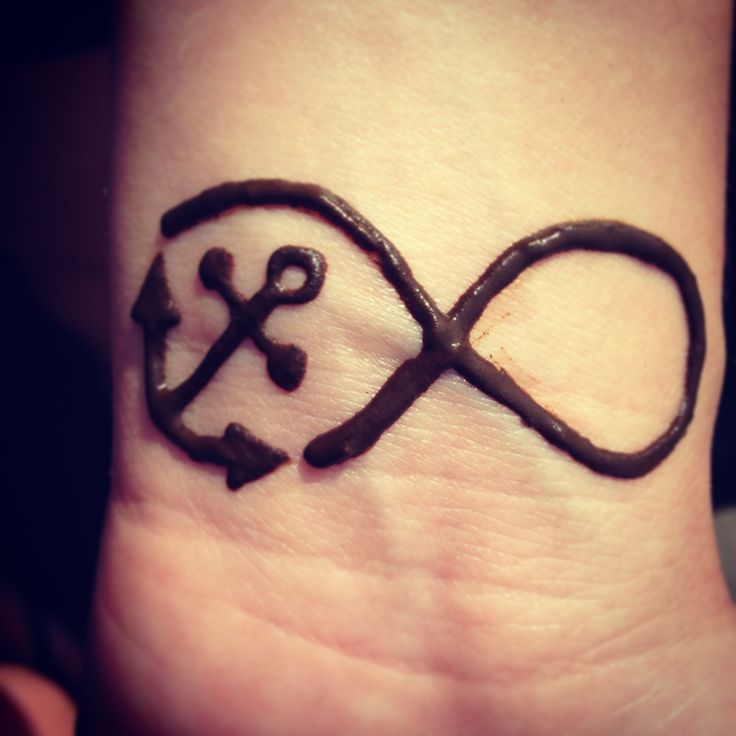 Anchor Henna Tattoo: Henna Tattoo #infinitysign #anchor