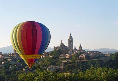 Para volar en globo en la ciudad de Segovia. Segovia en globo