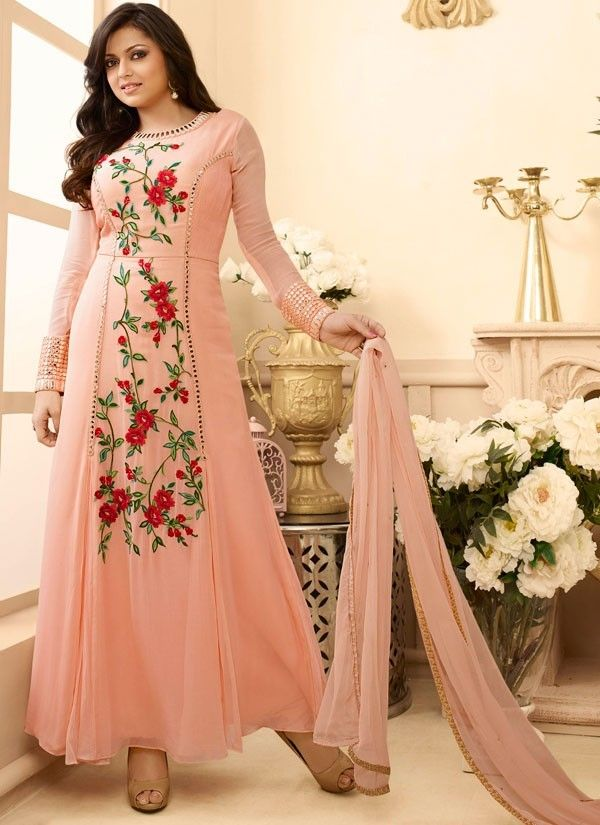 Drashti Dhami Peach Anarkali Suit                                                                                                                                                      More