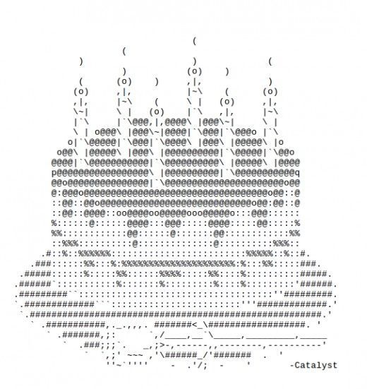 One Line Ascii Art Dirty : Happy birthday ascii text art