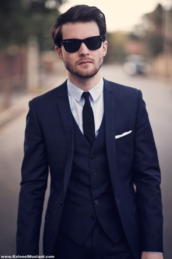 25  best ideas about Blue suit black tie on Pinterest | Blue suit ...